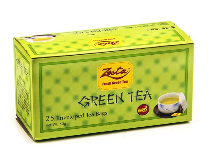 TEA IN BAGS of ZESTA 25х2G (50G) green, Sri Lanka
