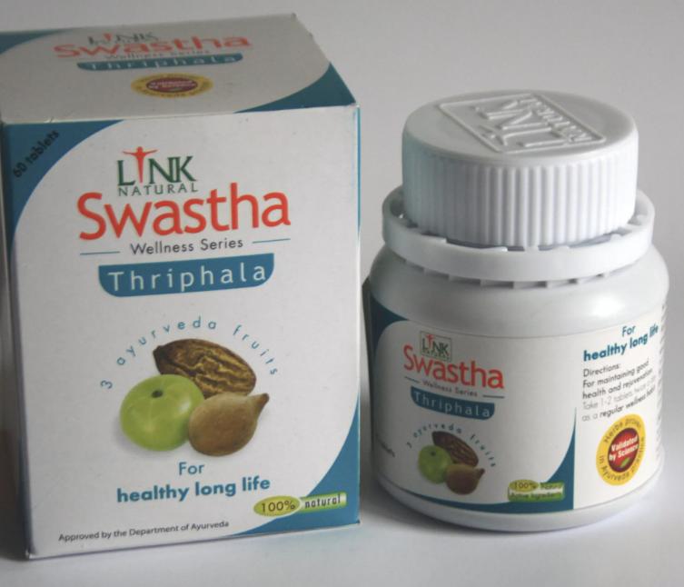 Triphala Ayurvedic SWASTHA Link Natural Products (Pvt) Ltd, Sri Lanka 1*60