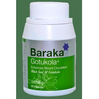 """Baraka"" GOTUKOLA PLUS capsules, 60 capsules, increases life expectancy"