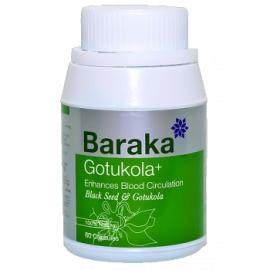 """Капсулы """"Baraka"""" GOTUKOLA PLUS, 60 капсул, увеличивает продолжительность жизни, Шри-Ланка"""