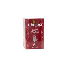 Tea black ENGLISH BRAKFAST packaged, 25 sachets*2 gr Cheliza, Sri Lanka(Russia)